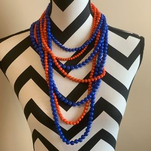Jewelry - 💖NWT💖Orange and Blue necklace and earrings